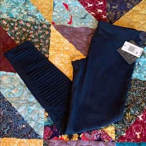 NWT navy moto workout leggings